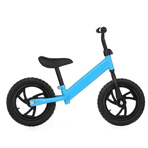 Bicicleta de equilibrio para bebés, caminante, regalo de juguete de montar a caballo, niños de 2 a 6 años aprendiendo scooter de dos ruedas sin pedal de bicicleta,Azul