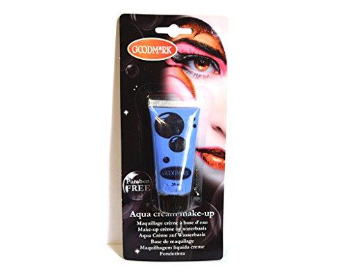 Tube crème maquillage à l'eau Aqua BLEU déguisement - 38 ml