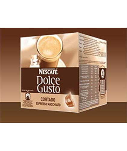 Nescafé Dolce Gusto Cortado Cápsulas de Café, 16 Cápsulas