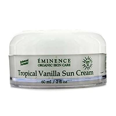 Eminence Organic Skincare Sun Cream SPF 32, Tropical Vanilla, 2 Fluid Ounce