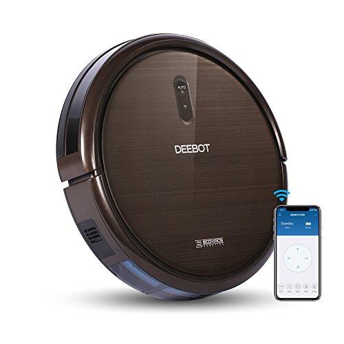 ECOVACS ROBOTICS N79S Robot Vacuum Cleaner High Suction, Auto Self-Charging Robotic Vacuum Cleaner, Drop Sensor, Alexa & App Connect, Works On Hard Floor & Low Pile Carpet, Pet Hair -2 Year Warranty,