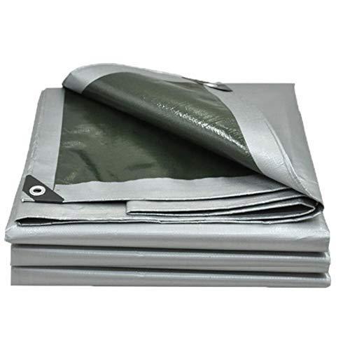 Gcxzb Thickened Polyethylene Tarpaulin Silver Car Tarpaulin Outdoor Sunscreen Tarpaulin 2-10m (Size : 3x4M) (Size : 3x6M)