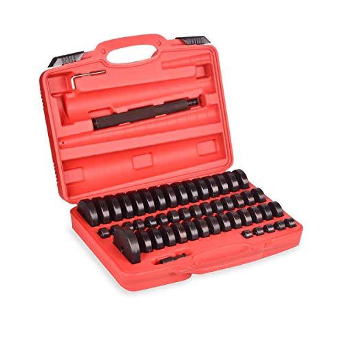 CCAN Juego de extractores de Prensa de cojinetes de 52 Piezas, Kit de Destornillador de Sello y Carrera de cojinetes de bujes de 18 mm a 74 mm, Herramientas de instalación de extracción de