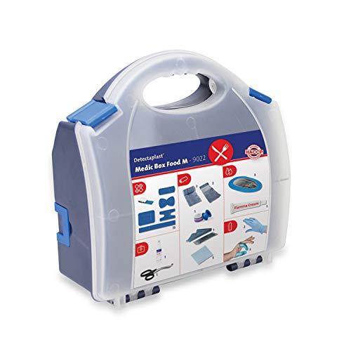 Detectaplast Verbandskasten für die Gastronomie, Erste Hilfe Set für die Behandlung von Wunden, tragbare Reiseapotheke im Koffer mit Pflaster, Verband, Tape, 99 Teile