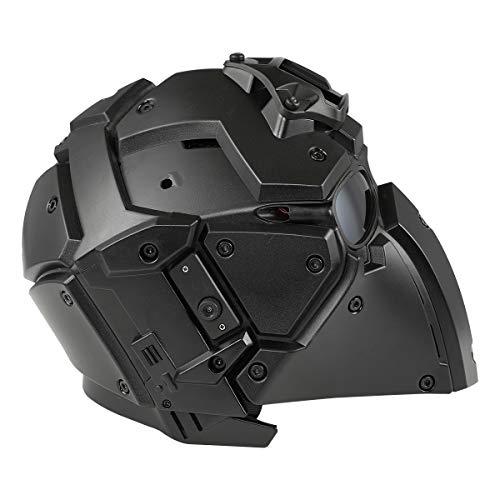 WoSporTRoninNVGマウントモジュラーヘルメットファン付ObsidianHL-92-BK-BK
