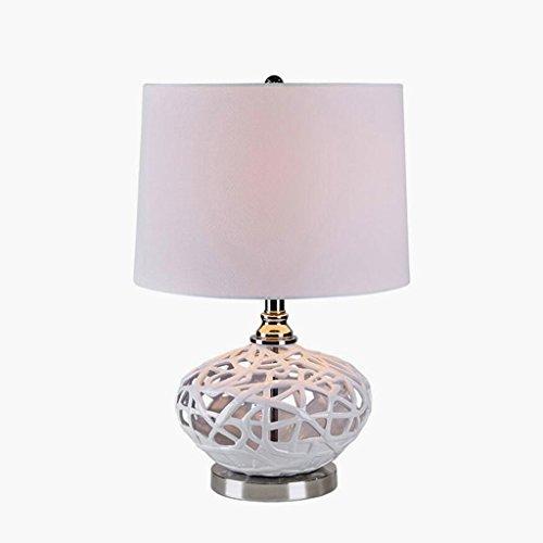 Lampe de table lampe de bureau Lampe de table en céramique chambre à coucher lit de chevet lampe de table décorative lampe simple et créative en céramique de mode, E27