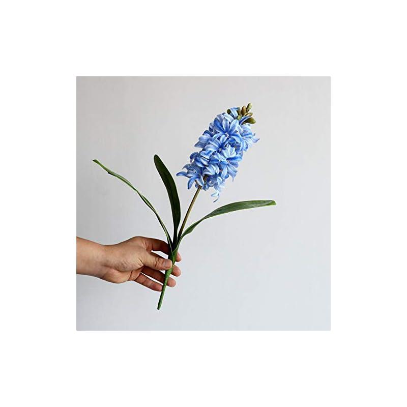 silk flower arrangements barmi artificial silk flowers faux hyacinth narcissus flowers artificial hyacinth flower star blue hyacinth royal purple hycinth lifelike flowers fake hyacinth decor blue