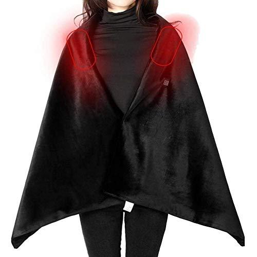 GzxLaY Manta eléctrica con mantón calentado, Bufanda calefactada con mantón calentado con...
