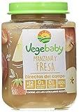 Vegebaby, Potito de fruta para bebé (Manzana y fresa) - 8 de 190 gr. (Total 1520 gr.)