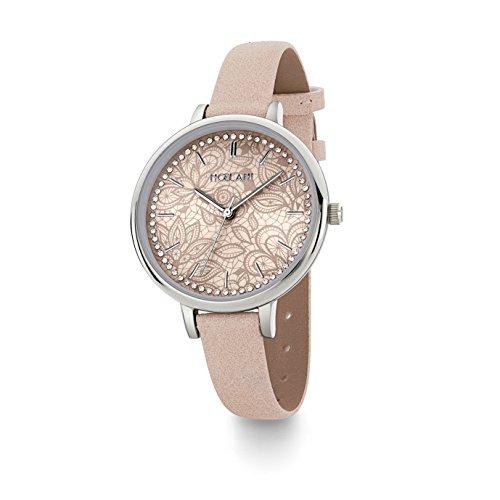 NOELANI Damen Analog Quarz Uhr mit Lederimitat Armband 2019094