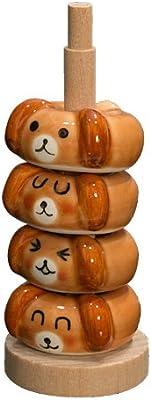 田中箸店 ドーナツ箸置 いぬセット(木製収納ポール付属)