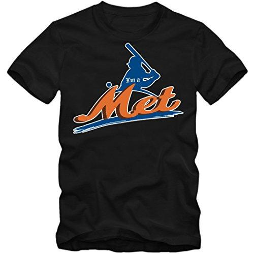 I'm a Met #2 T-Shirt | Baseball |Home Run | Play Offs | American Sports | USA | Shirt | Tee | Herrenshirt, Farbe:Schwarz (Deep Black L190);Größe:S