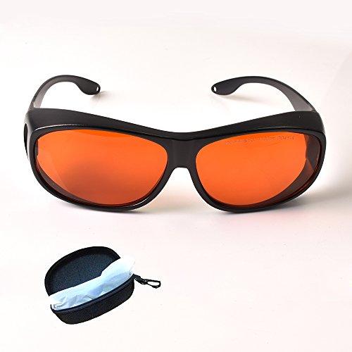 TWINSWOLF T3G Gafas de seguridad láser para 405nm 450nm 532nm Laser Ray protección completa 190 ~ 540nm y 800 ~ 1100nm IR láser infrarrojo 808nm 980nm 1064nm UV Lasers Protección ocular CE OD4
