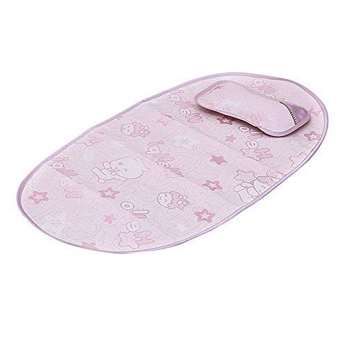 Thole Alfombra Baby Summer Cool NiñO Cuna Almohada ColchóN Seda Hielo Juego Almohadas para Dormir para NiñOs PequeñOs,Pink
