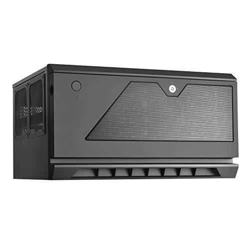 """SilverStone SST-CS381 - Case Storage ATX Midi Tower Computer Gehäuse, innen schwarz, unterstützt 8x 3.5\"""" oder 2.5\"""" Hot-Swap Festplatteneinschübe, Front-Tür abschliessbar, schwarz"""