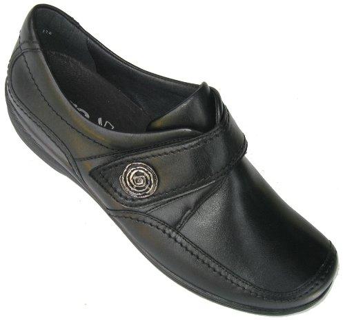 ara Meran-Tr - Zapatillas de estar por casa de cuero para mujer, color negro, talla 37.5