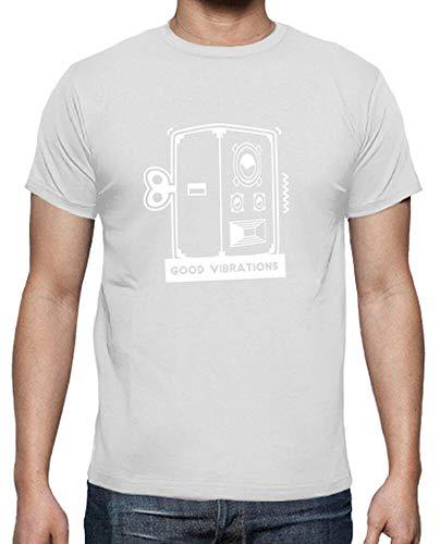 tostadora - T-Shirt Gute Schwingungen - Manner Weiß M