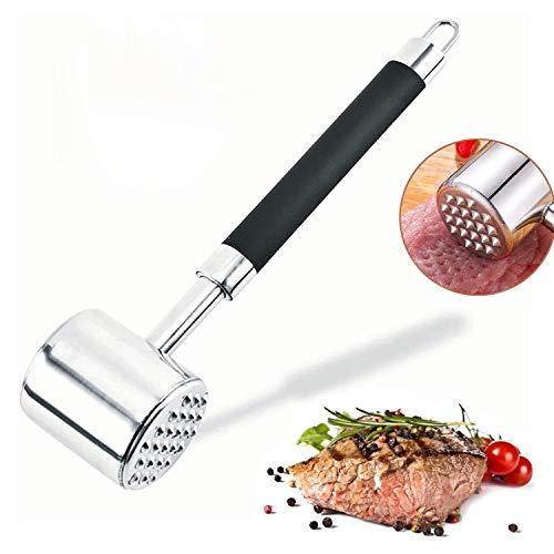 ViViKaya Viande Attendrisseur Marteau Double Face pour Steak, Poulet, Poisson, Porc, 27 Cm Inoxydable Maillet, Durable Outils de Cuisine