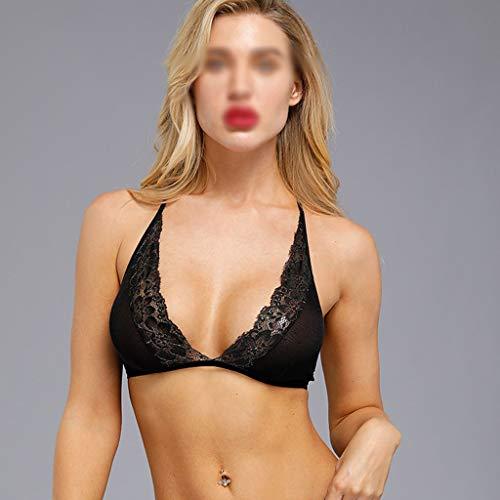 Kanten Beha Geen Stalen Ring Driehoek Beker Ultradun Sexy Bralette Ondergoed BH Mode Vrouwen Nodig S-XXL,Black,XXL