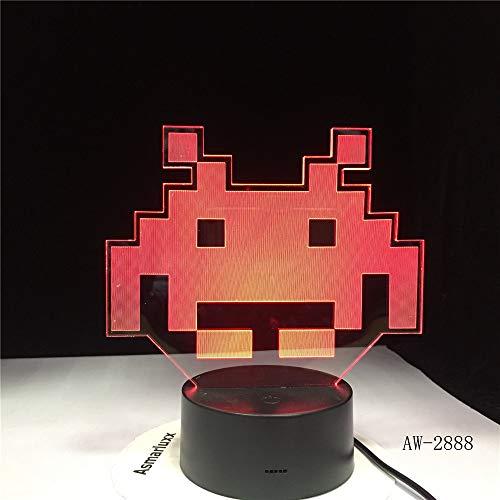 Rund um den Prototyp einfügen Licht 3D Licht LED 7 Farbwechsel USB Touch 2 No Controller