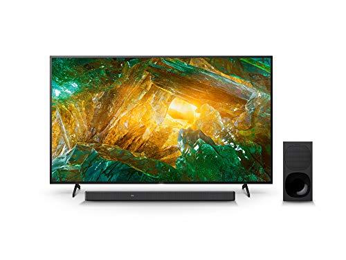 Sony KD-65XH8096 Bravia 164 cm (65 Zoll) Fernseher (Android TV, LED, 4K Ultra HD (UHD), High Dynamic Range (HDR)) Schwarz + 3.1-Kanal-Soundbar mit Dolby Atmos (Surround Sound, Bluetooth) Schwarz
