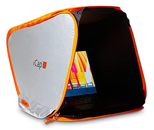 """iCap® MID Classic Notebookzelt. Outdoor Protektor gegen Sonnenlicht, Verblendung, Regen, Staub Hitze, Kälte. Für MacBook, Notebook, Laptop, iPad. Größe MID für 14"""" bis 16"""""""