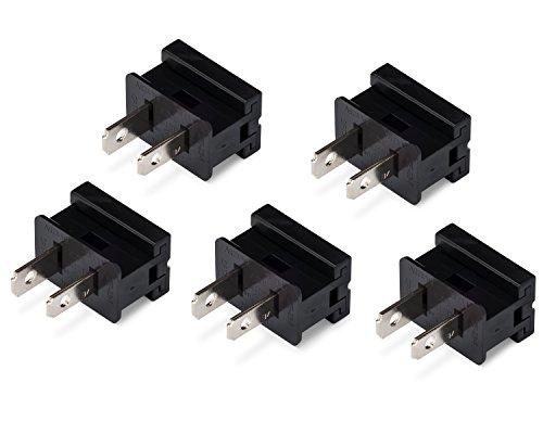 Holiday Lighting Outlet Male Black Slip Plug, Zip Plug, Vampire Plug, Gilbert Plug, Slide Plug (25, SPT-1)