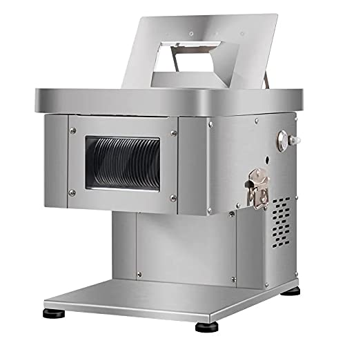 MAODEN Quality Electric Meat Cutter, 1100w Heavy Duty Stainless Steel Pure Copper Motor Meat Grinder Full Restaurant Meat Processing 220v
