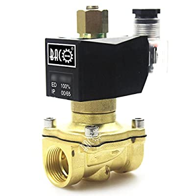 """BACOENG 3/4"""" 110V Electric Solenoid Valve (NPT, Brass, Normally Open) from Baco Engineering"""