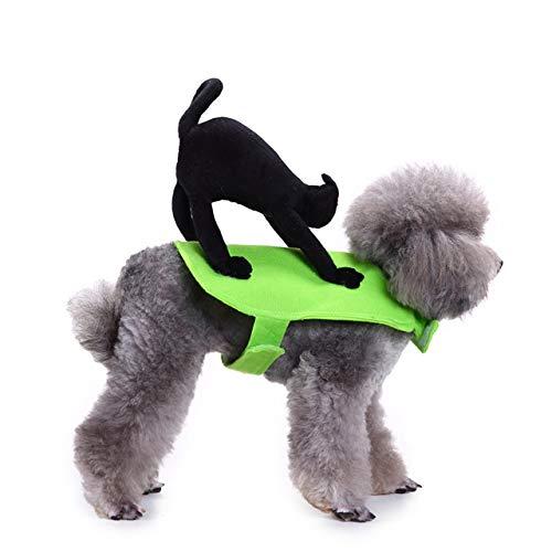 DJFIREGMNIJ Ropa para Mascotas Gato VIP Perro Unicornio Montando Ropa De Gato Disfraz De Murciélago Disfraz De Fiesta De Halloween