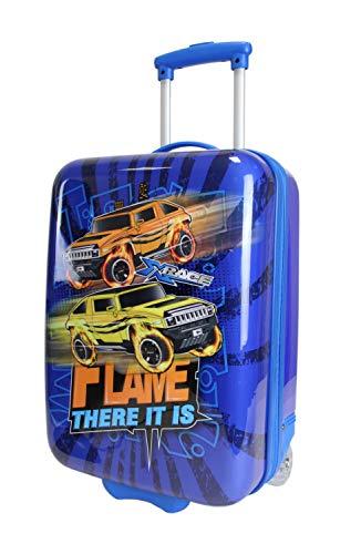 Frentree Car Race Jungen Kinder Trolley Hartschalen | Handgepäck Reisekoffer, Farbe:blau