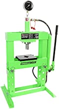 OEMTOOLS 25088 Hydraulic 10 Ton Benchtop Press with Double Speed Pump | Compact Design & Huge Power | Straighten, Bend, Press, Remove Parts & Bearings | Double Speed Pump Reduces Set-Up & Press Time