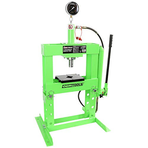 OEMTOOLS 25088 Hydraulic 10 Ton Benchtop Press with Double Speed Pump, Hydraulic Press, Small Shop Press, Wheel Bearing Press, Press Hydraulic