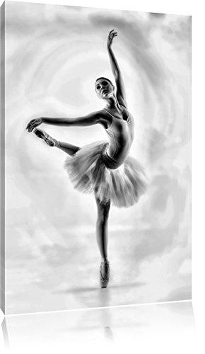 esthetische BallerinaFoto Canvas | Maat: 120x80 cm | Wanddecoraties | Kunstdruk | Volledig gemonteerd
