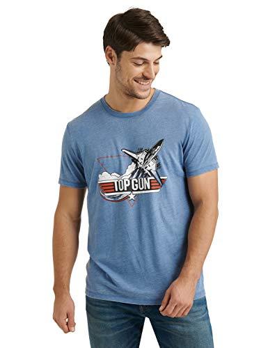 Top Gun Fighter Jet T-shirt for Men, Federal Blue, S to XXL