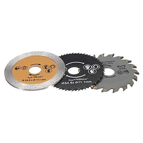YO-TOKU Cirkelzaag Blades, 3Pcs 54.8mm HSS Wood zaagmachines Met Mandrel slijptol Elektrisch gereedschap Metal Cutting zaagmachines