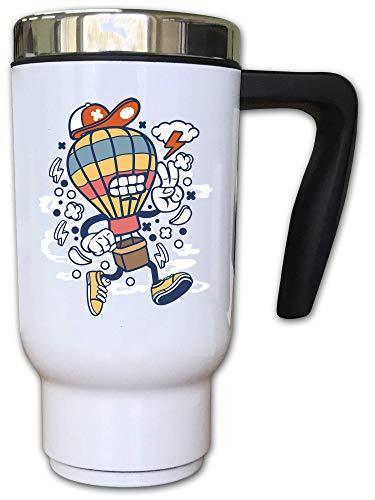 Iprints Cartoon stijl luchtballon vliegen onweer thermische thee koffiemok