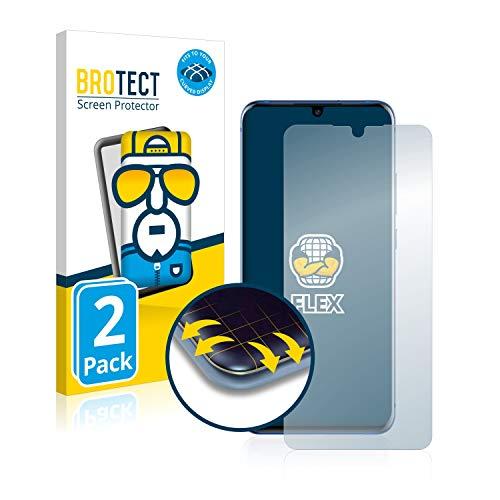BROTECT Full-Cover Schutzfolie kompatibel mit ZTE Axon 10 Pro (2 Stück) - Full-Screen Displayschutz-Folie, 3D Curved, Kristall-Klar