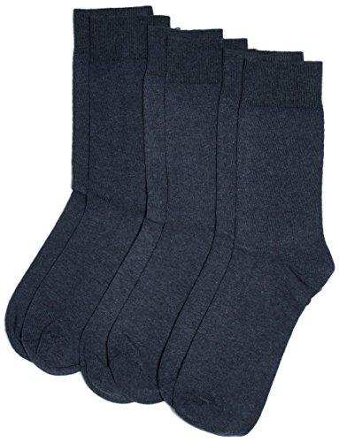 Camano Unisex - Erwachsene Socken 3403 CA-SOFT 3er Pack, Gr. 39/42 (Herstellergröße: 39/42), Blau (jeans 6)