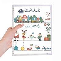 クリスマス雪だるまサンタクロースフェスティバル 硬質プラスチックルーズリーフノートノート