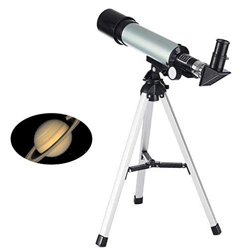 F36050 Telescopio, Telescopio Astronómico Refractor para Principiantes para Niños, 2 Ojo Piezas Telescopio, Barlow De La Lente Y El Trípode, Buen Socio para Ver La Luna Y Planeta