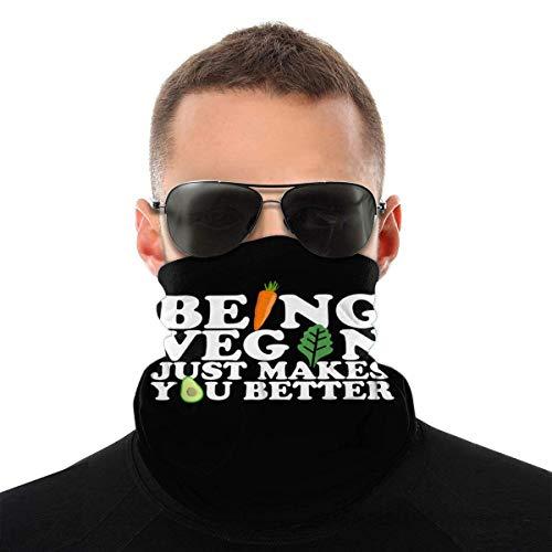 Lsjuee, ser vegano, solo te hace mejor, pañuelos para la cara, bufanda para la cabeza sin costuras, transpirable para hombres y mujeres
