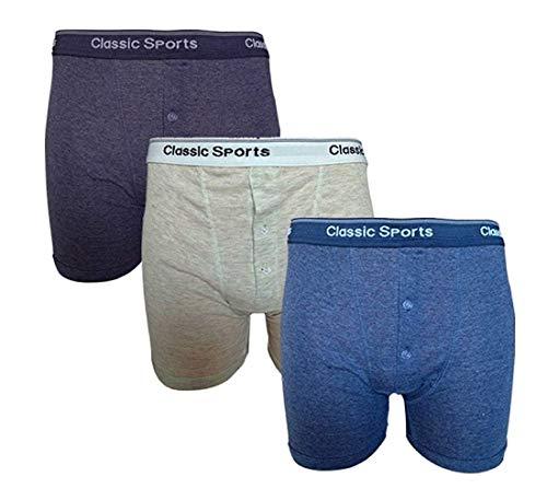 Classic Sport - 12 paires de boxer-short slip en coton mélangé avec bande assorti pour hommes - Non indiqué, M