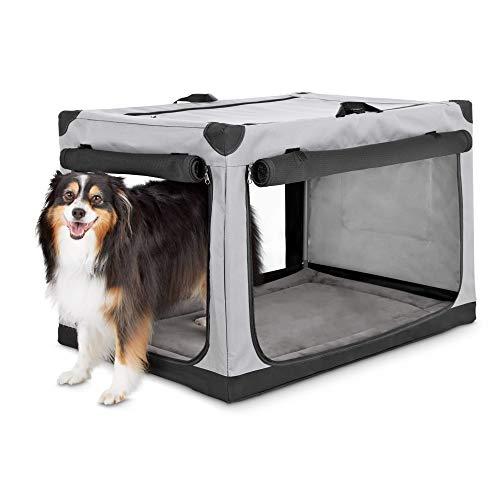 """Animaze Portable Canvas Light Grey Dog Crate, 36"""", Large Basic Crates"""