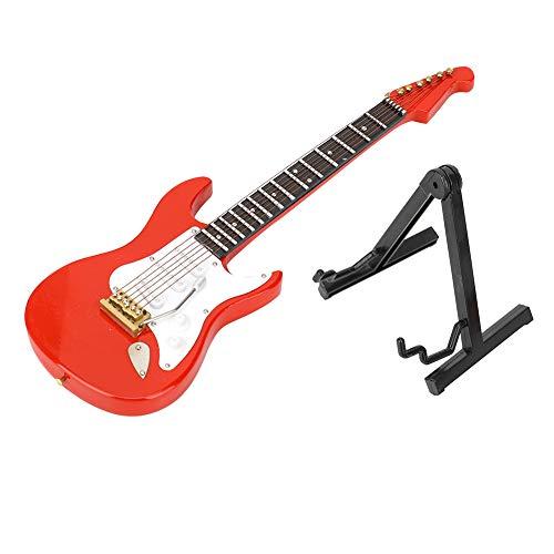 Oumefar Modelo de Guitarra eléctrica roja en Miniatura, Manualidades de Guitarra, Instrumentos...