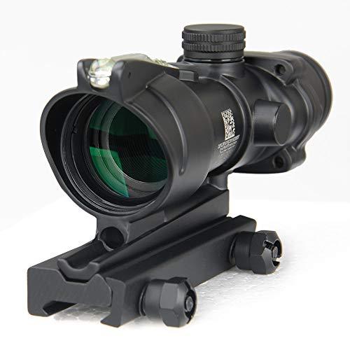 Hengyuanyi Jagdgewehre ACOG 4 x 32 Zielfernrohr rot grün Faser Quelle beleuchtet Gewehre schwarz Hellbraun Taktische optische Seher
