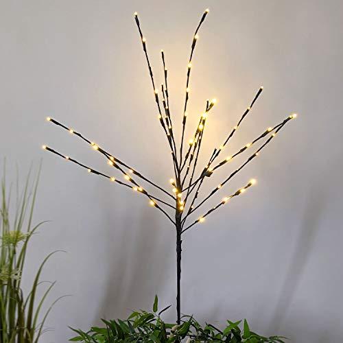LED Lichterbaum H110cm mit Dual-Timer, 80 LED-Lichter warmweiß, inkl Erdspieß, In- & Outdoor