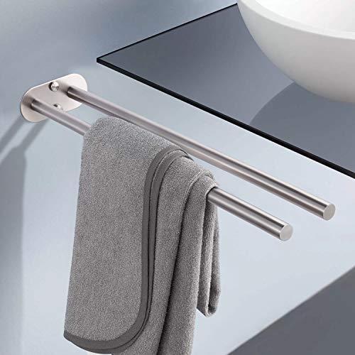 Handtuchhalter, Dalmo DBTH02SR 45cm Zweiarmig Handtuchstange Bad Wandmontage Doppelt Edelstahl Gebürstet