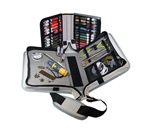 The Beadsmith Voyager Work Board Case, Storage and Organizer for Jewelry Making, Travel Case with Shoulder Strap