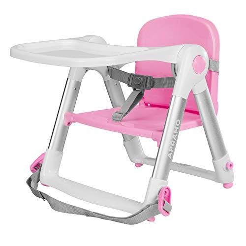 Seggiolino per neonati da pranzo Seggiolino per allattamento portatile pieghevole con vassoio e cintura di sicurezza (Sakura)